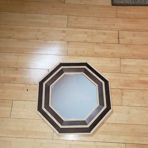 Octagonal Mirror Wooden Frame